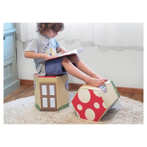 Krooom Toadstool Set Of 2 Kids Stools