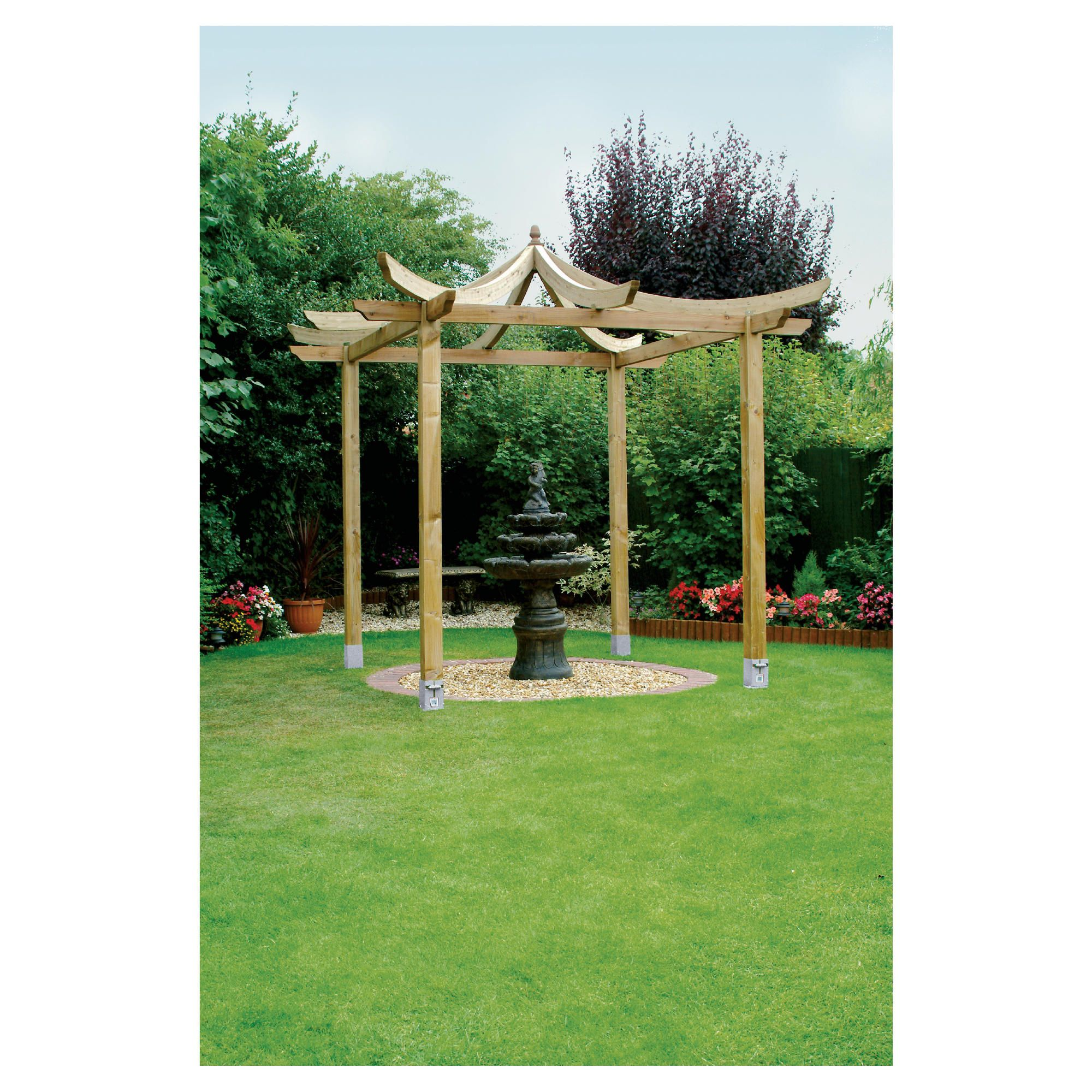 Ashcott Pergola - Includes Bolt down Anchors at Tesco Direct