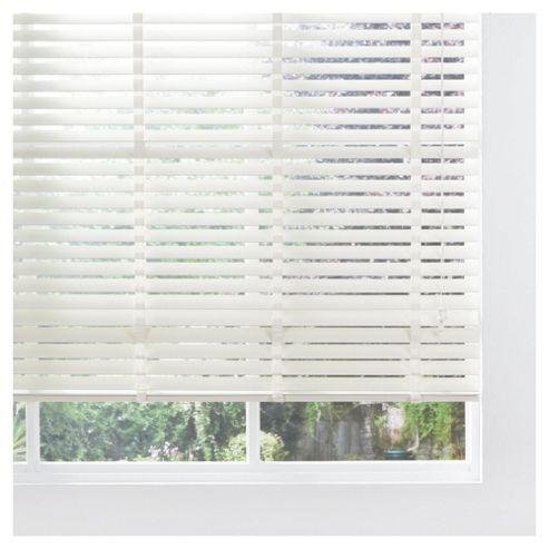 Sunflex Wood Venetian Blind W180 x Drop 152cm, 50mm Slats, Cream