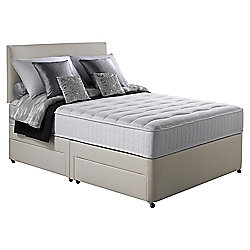 Silentnight Foxton Double Divan Bed, Non-Storage, 1000 Pocket Memory