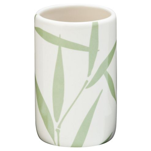 F+F Home Bamboo Leaf Ceramic Beaker
