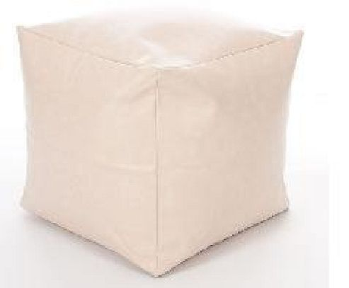 Kaikoo Faux Leather Cube, Cream