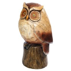Woodland Friends Wooden Effect Owl