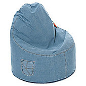 Kaikoo Ezee Bean Bag Chair, Light Denim