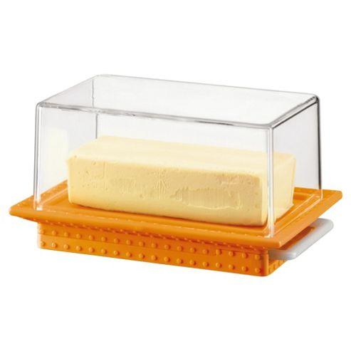 Bodum Bistro Butter Dish with Dome, Orange