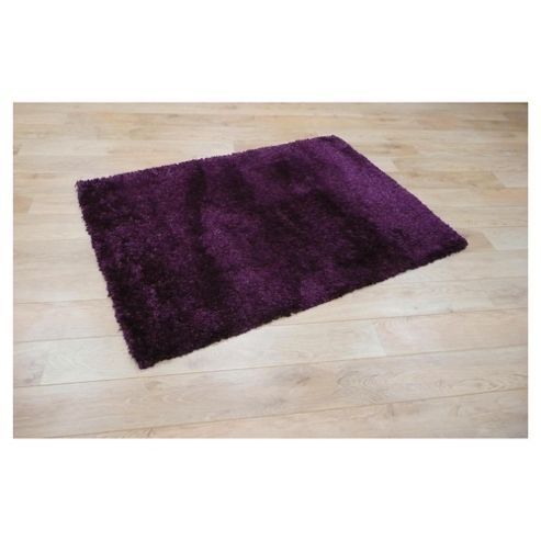 Tesco Rugs Extra Thick Shaggy Rug Violet 160X230Cm