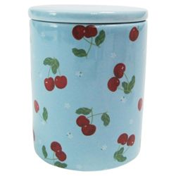 Tesco Cherry Canister, Blue