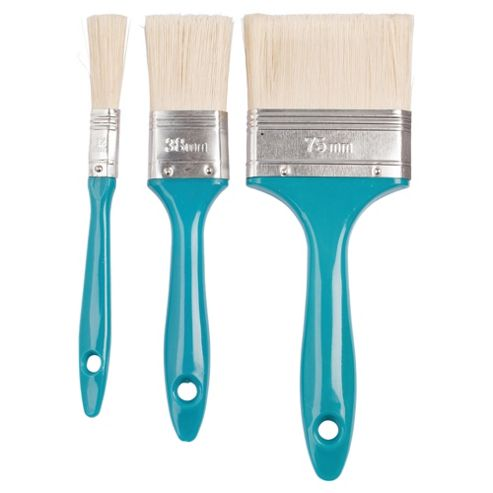 Tesco 3 Pack Woodstain Brush Set