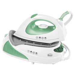 Swan SI4030  anti drip Iron with Stainless Steel Plate - White/Green