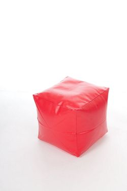 Kaikoo Faux Leather Cube, Red