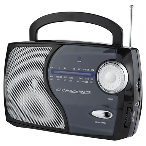 Tesco 113B Kitchen Analogue Radio Black