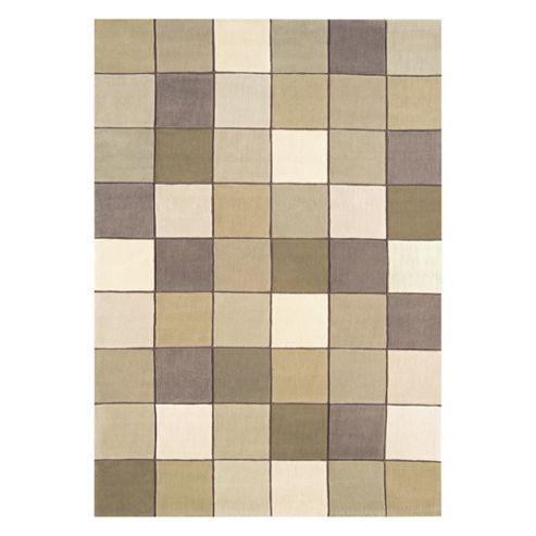 Tesco Rugs Eden Pixel Rug Beige 120x180cm