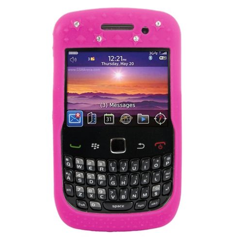 Bliss Silicone Case BlackBerry 8520/9300 Pink Crown