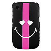 Smiley World Case BlackBerry 8520/9300 Black and Pink Stripe