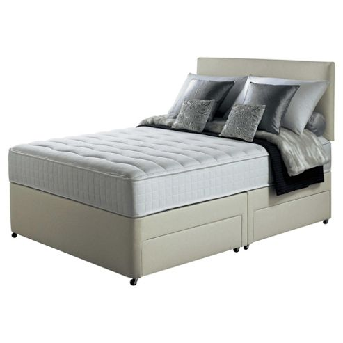 Silentnight Foxton Double Divan Bed with 4 Drawers, 1000 Pocket Luxury