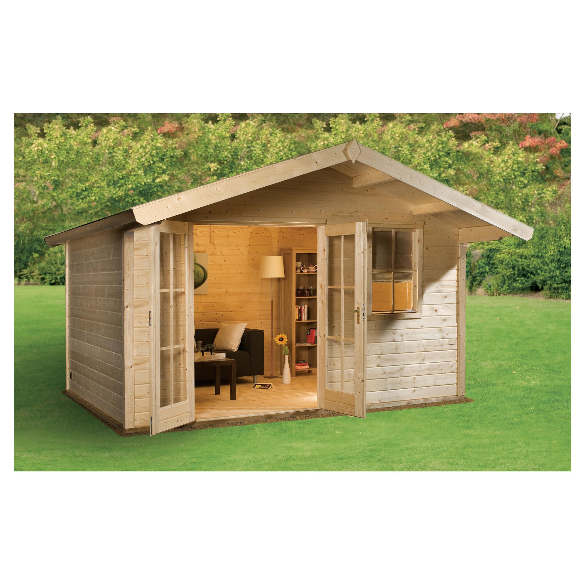 Finnlife MOKKI 212 Log Cabin at Tesco Direct