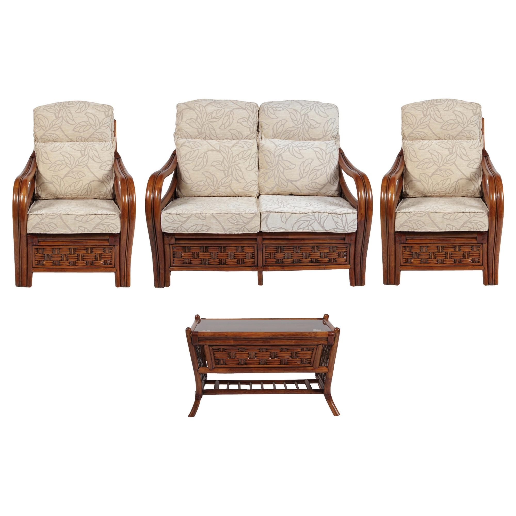 Santiago 4 Piece Suite Conservatory Set (sofa, 2 x chairs & Coffee table) at Tescos Direct