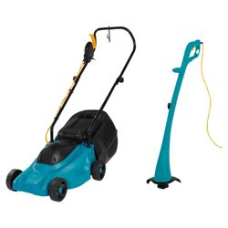 Tesco Value ELM012011 & CDGT012011 Electric Lawnmower & Grass Trimmer Twin Pack