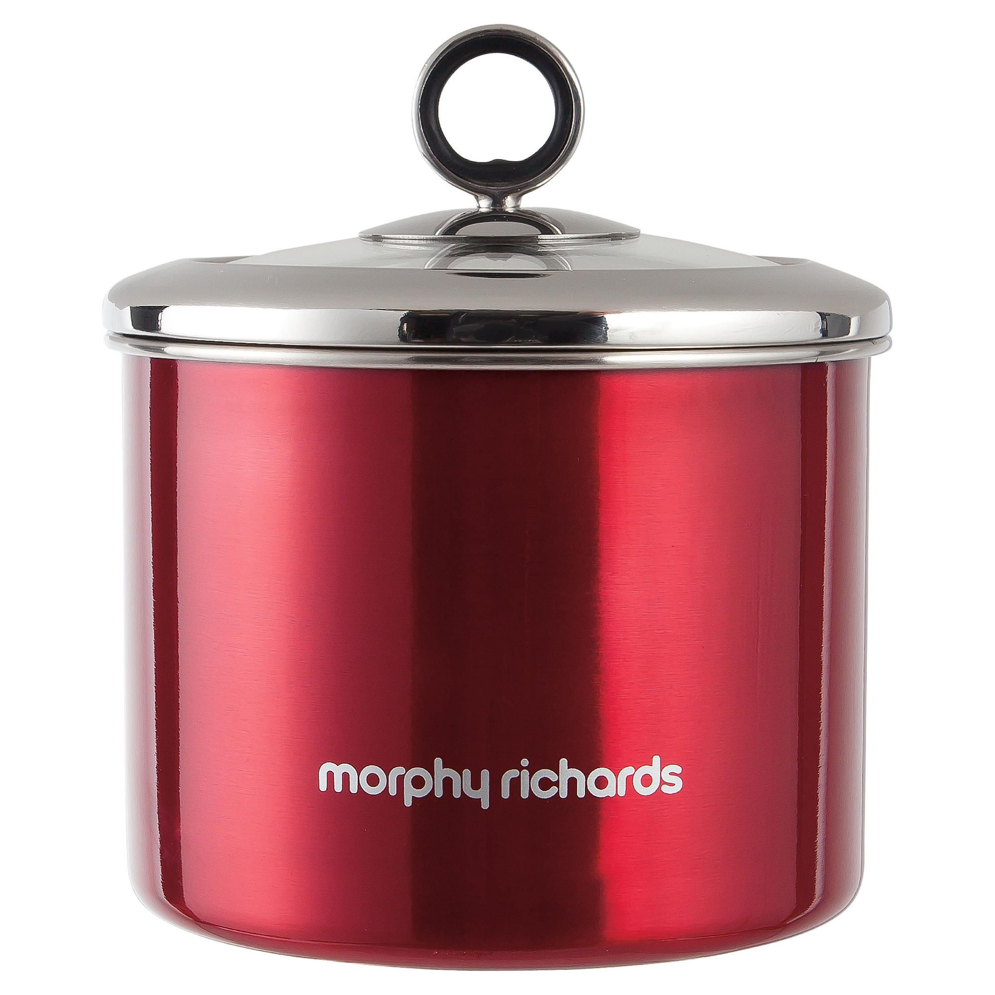 Morphy Richards 14x13.5cm Storage Canister, Red