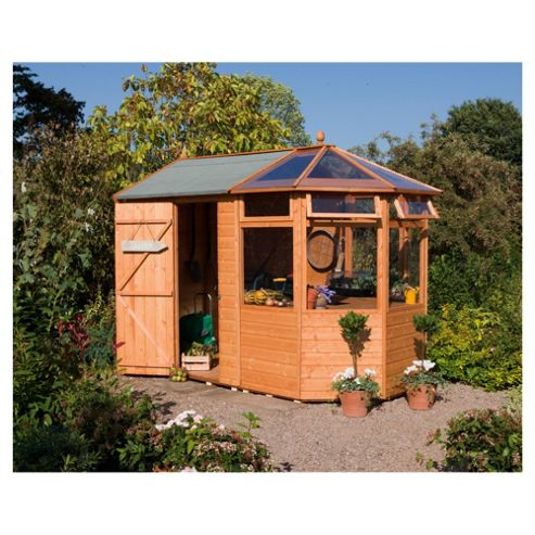 Buy rowlinson shiplap wooden potting store with shed for Buy potting shed