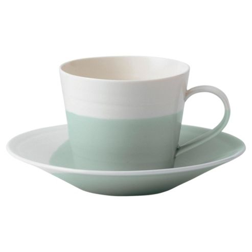 Royal Doulton 1815 Set of 4 Teacups and Saucers, Green
