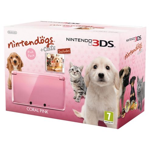 Nintendo 3DS Coral Pink with Nintendogs
