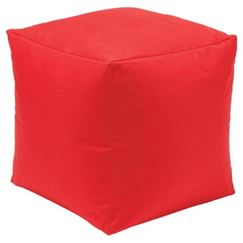 Kaikoo Indoor/Outdoor Bean Bag Cube, Red