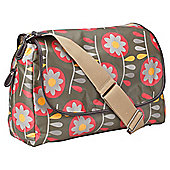 OiOi Messenger Retro Circular Floral Olive Green Changing bag.