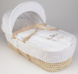 Clair de lune My Toys Moses Basket - White