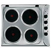 Indesit PIM604IX, Solid Plate, Stainless Steel, Electric Hob, 58cm