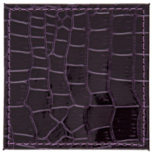 Tesco Moc Crock Set of 4 Coasters, Purple