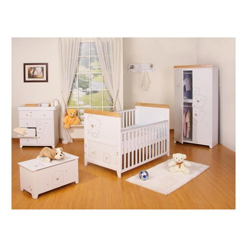Tutti Bambini Bears 5 Piece Room Set, White With Free Home Assembly
