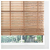 Wood Venetian Blind  Oak Effect 105cm 50mm slats Dro 152cm