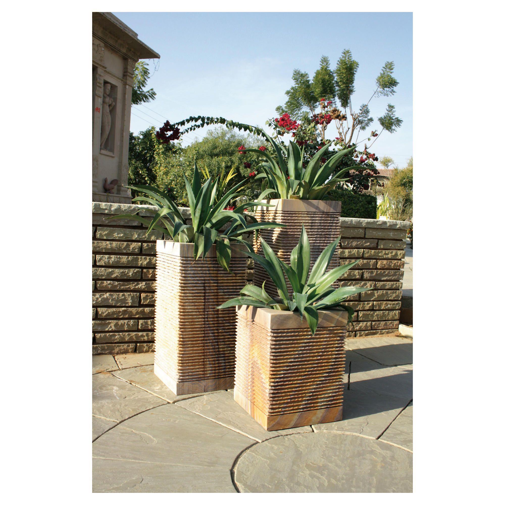Caelum Rainbow Stone Planter 60cm at Tesco Direct
