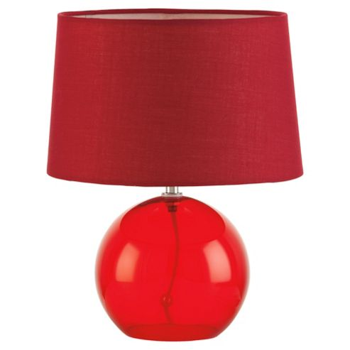 Tesco Lighting lydia glass ball red
