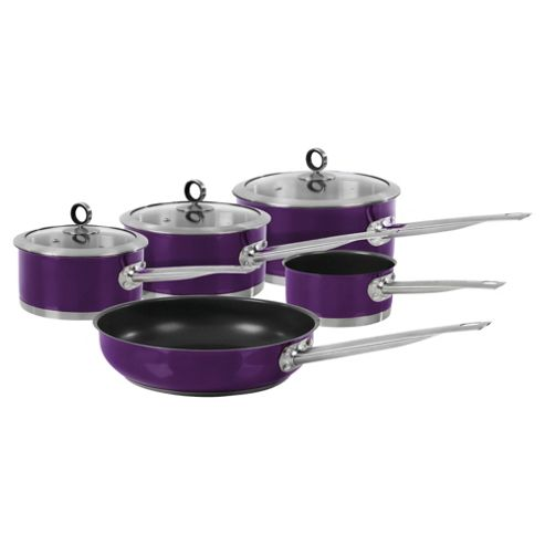 Morphy Richards 5 piece Pan Set, Purple