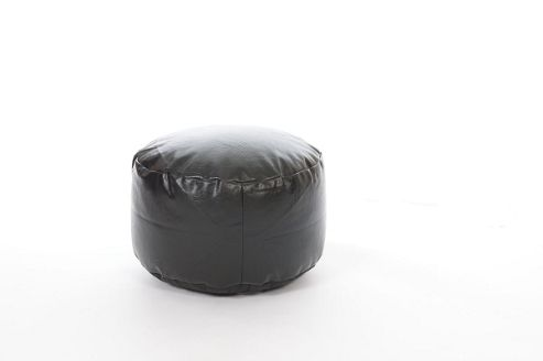 Kaikoo Faux Leather Footstool, Black