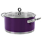 Morphy Richards 24cm Casserole, Purple