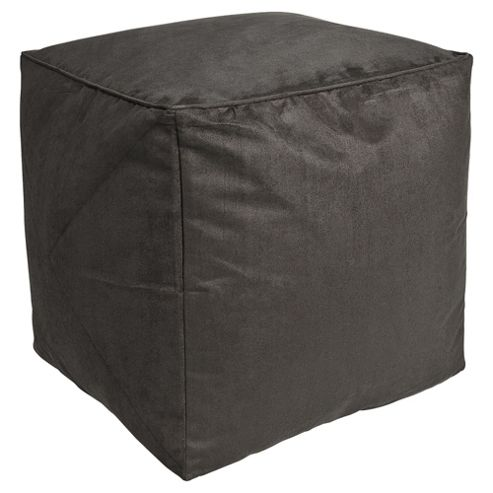 Kaikoo Faux Suede Bean Bag Cube, Charcoal