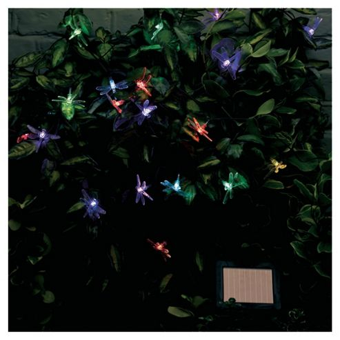 20 Solar Colour Changing Dragonfly String Lights
