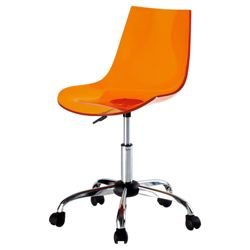 Scoop Office Chair, Orange