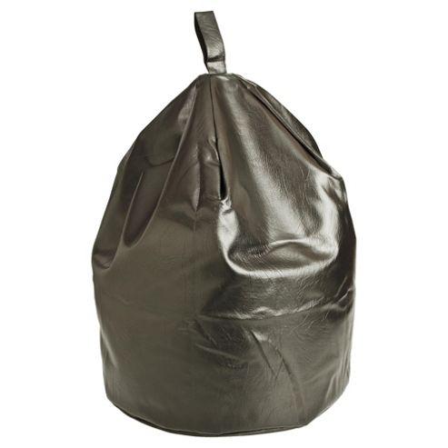 Kaikoo Faux Leather Bean Bag, Black