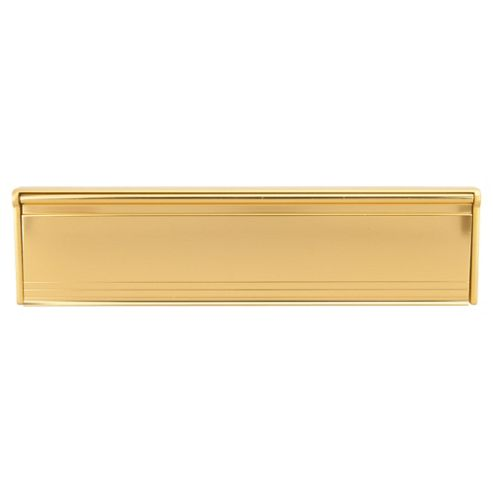 Premium Letter Box Draught Plate With Cover Gold