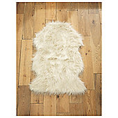 Tesco Rugs faux sheepskin rug cream