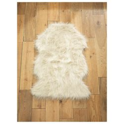 Tesco Rugs faux sheepskin rug cream