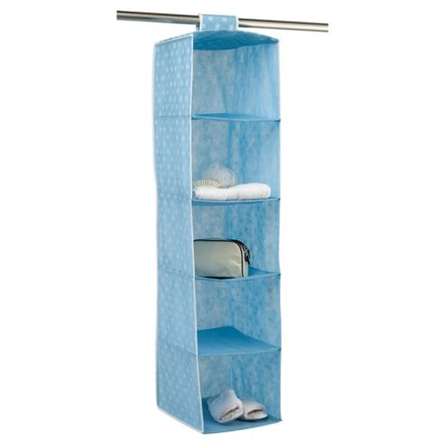 Pois Ordinatore 5 Shelf Hanging Unit, Blue