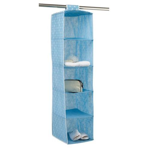 Pois Ordinatore 5 Shelf Hanging Unit, Blue