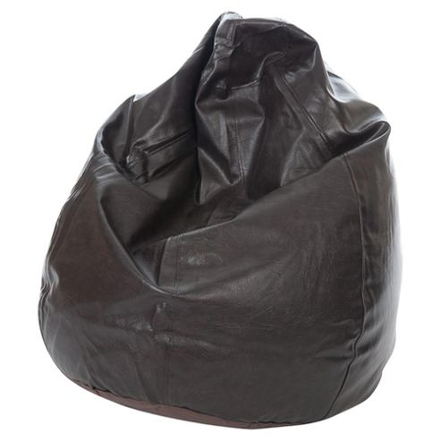 Kaikoo Faux Leather Teardrop Bean Bag, Brown
