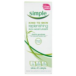 Simple Kind To Skin Replenishing Moisturiser 125ml