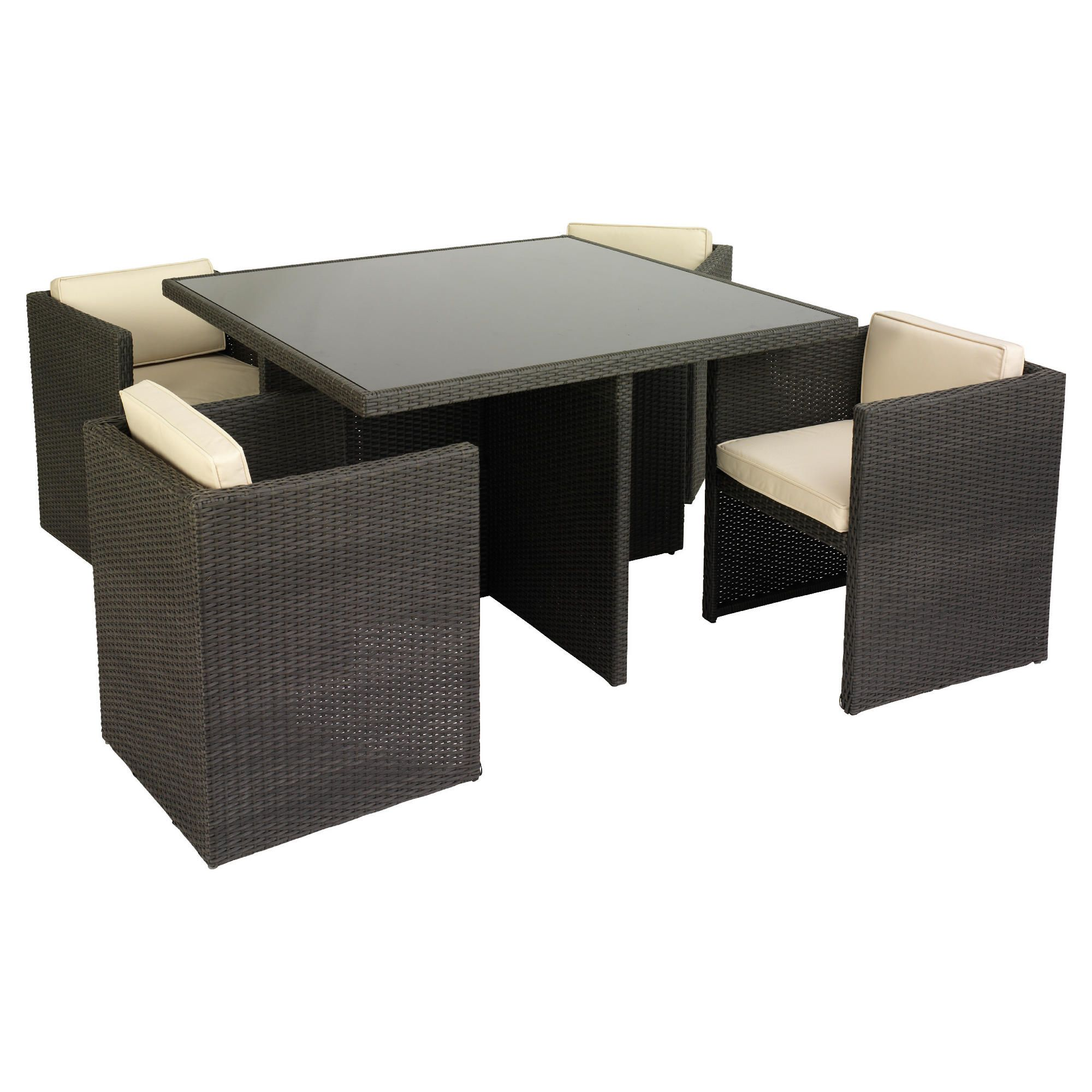 Cuba 4 Seater Hideaway Set in Grey/Mocha at Tescos Direct